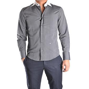 John Richmond Ezbc082077 Men's Grey Cotton Shirt