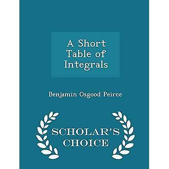 جدول التكاملات العلماء الطبعة اختيار طريق بيرس & اوسجوود بنيامين قصيرة