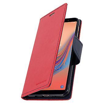 Galaxy A7 2018 Folio Case -korttien haltijan tukitoiminto Mercury - punainen
