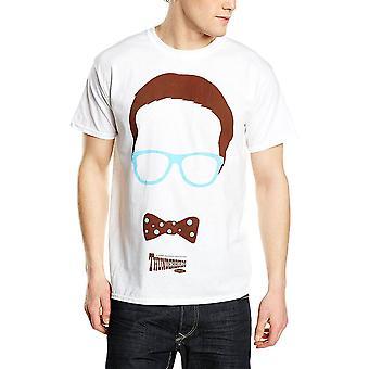 Άνδρες ' s κεραυνά κεφάλια λευκό T-shirt