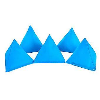 Cotone turchese Pack di 5 triangolare giocoleria Bean Bags per gioco all'aperto