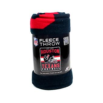 Houston Texans NFL Northwest Team Stripe Fleece Throw