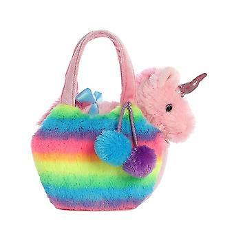 Aurora verden Fancy Pals Pet Unicorn Carrier plysj, Rainbow