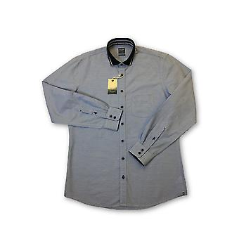 Olyp Casual odern Fit shirt in blue icro horizontal line
