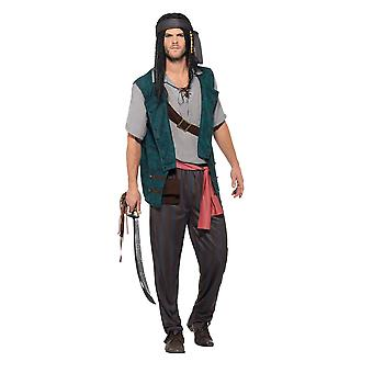 Pirate Deckhand Costume, Pirate Fancy Dress, Large