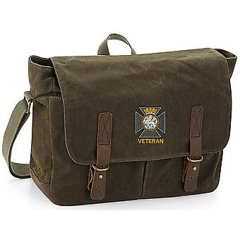 Duke Of Edinburghs Royal Regiment Veteran - Licenza British Army Ricamato Waxed Canvas Messenger Bag