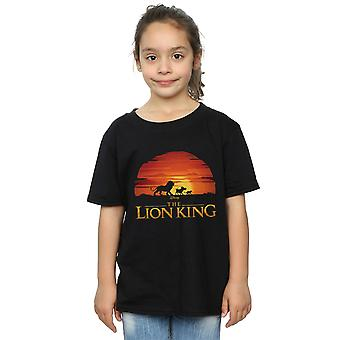 Disney Girls The Lion King Movie Sunset Logo T-Shirt