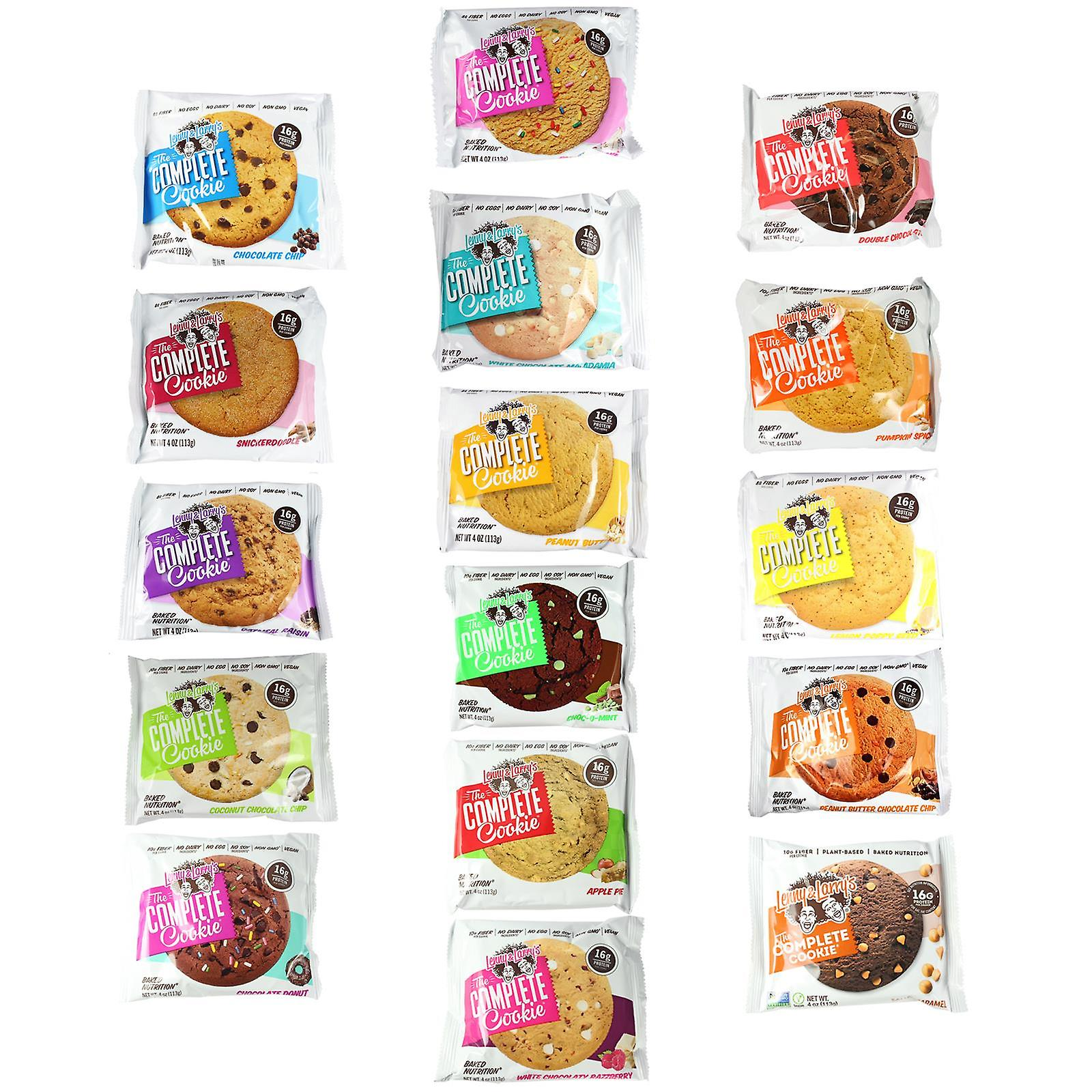 Lenny & Larry's Complete Cookies In Flavour Mixed Flavours Box Of 12 Cookies