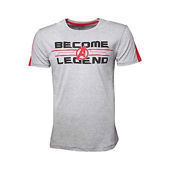 المنتقمون نهاية اللعبة تي قميص تصبح أسطورة جديدة الأعجوبة الرسمية الرجال الرمادي