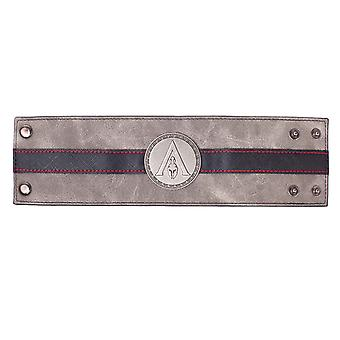 Assassini Creed Odyssey Wristband Metal Badge Logo nuovo ufficiale nero