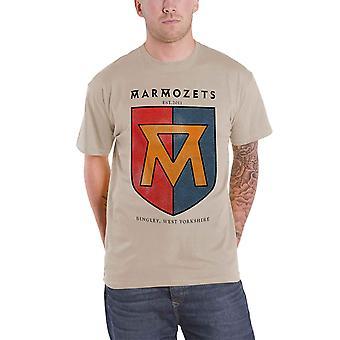 Marmozets T Shirt M Seal Band logo Official Mens New grey
