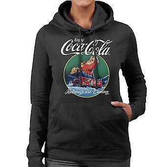 Coca Cola Holidays Are Coming Truck Women's Hooded Sweatshirt