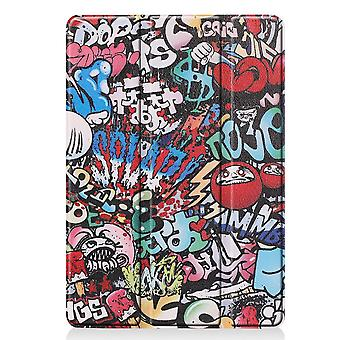 Apple iPad 10.2 2019 Slim Fit Tri-fold Fall-Graffiti Muster