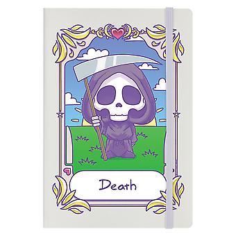 Cuaderno de cubierta dura mortal Tarot Kawaii Death A5