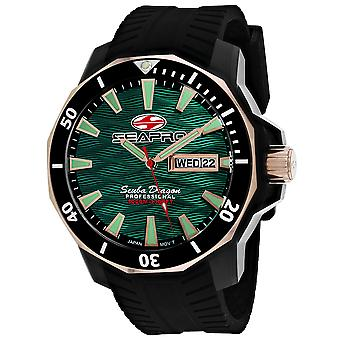 Seapro Men's Scuba Dragon Diver Limited Edition 1000 Meters Green Dial Watch - SP8324