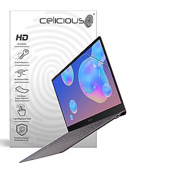 Celicious Vivid Invisible Glossy Glossy HD Screen Protector Film Compatible avec Samsung Galaxy Book S 13 2019 [Pack de 2]