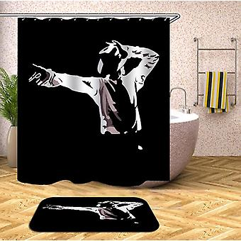 Black And White Michael Jackson Shower Curtain