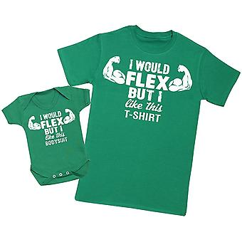 Jeg ' d Flex men jeg liker denne Top-mens T skjorte & baby Body