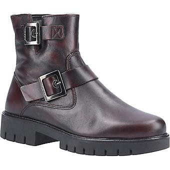 The Flexx Womens High Line Brushed Zip Ankle Boot Vino