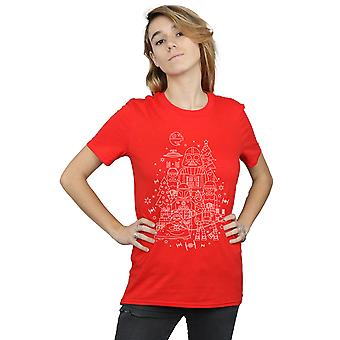 Star Wars Women's Empire Christmas Boyfriend Fit T-Shirt