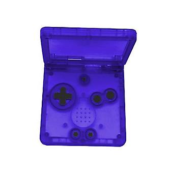 Replacement housing kit for nintendo game boy advance sp - clear purple | zedlabz