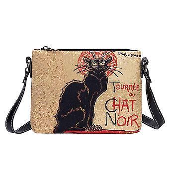 Steinlen - tournee du chat noir cross body bag by signare tapestry / xb02-art-ts-chat