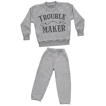 Trouble Maker - Sweatshirt with Grey Joggers - Baby / Kids Outfit
