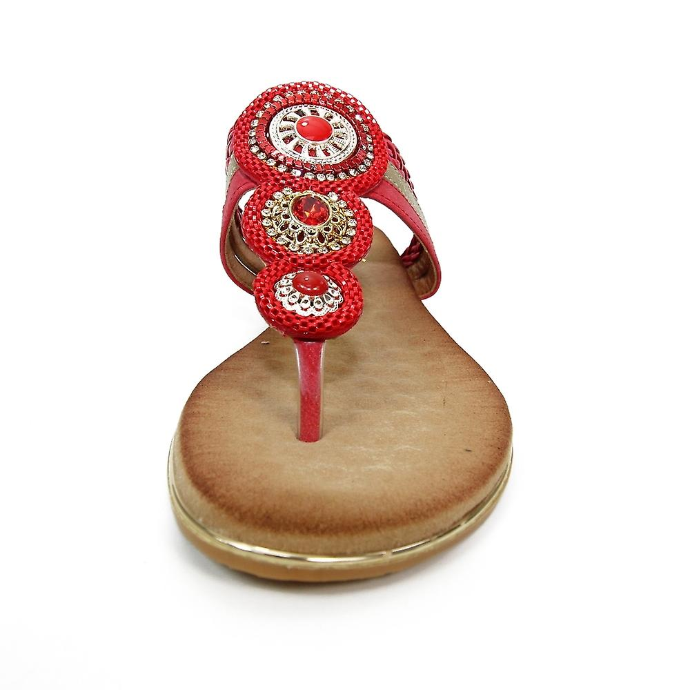 Lunar Carlotta Jewelled Toe Post Sandal