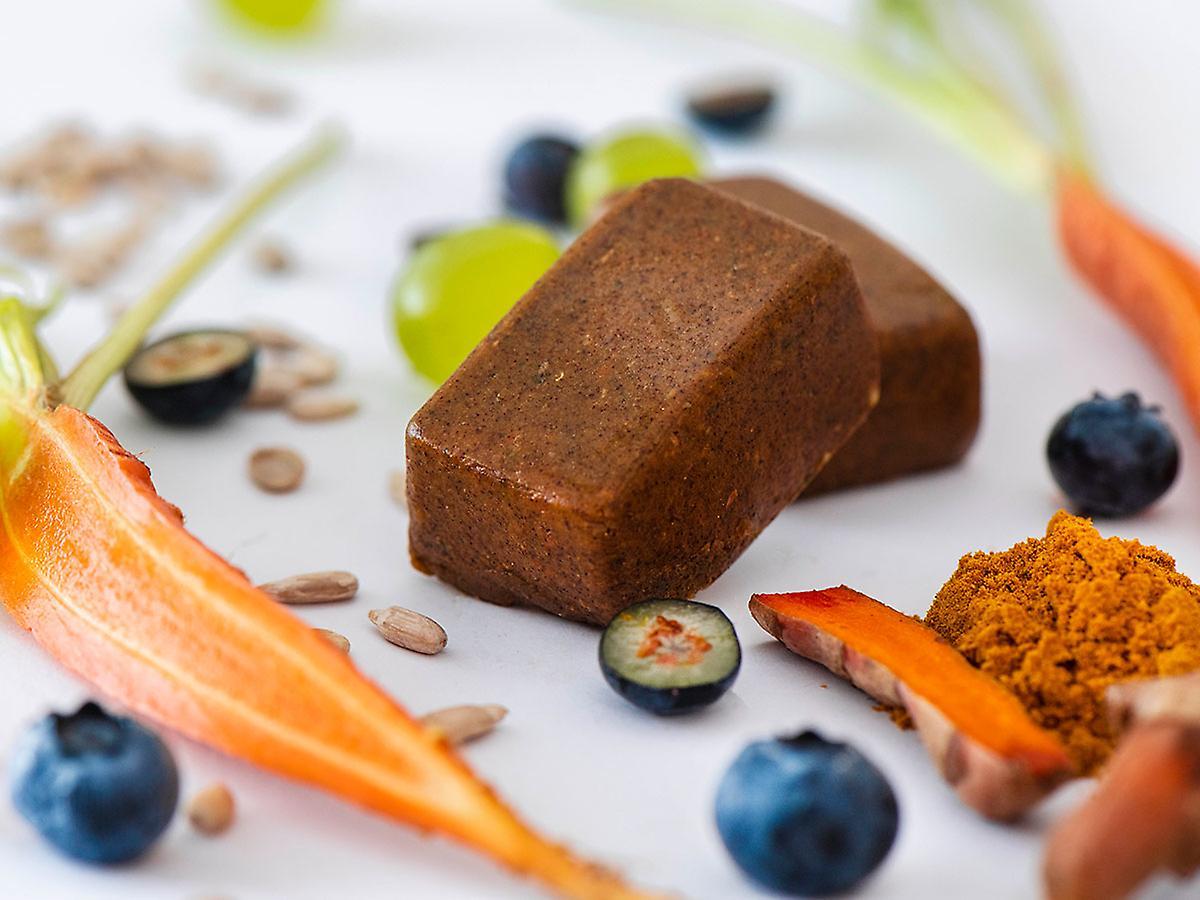 Swiss-QUBE Diätriegel - Gewichtskontrolle | Abnehmen ohne zu Hungern auf natürlicher Basis | Geschmack Original | 70 Swiss-Qubes - Wochenration