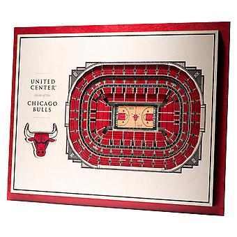 YouTheFan Wood Wall Decoration Stadium Chicago Bulls 43x33cm