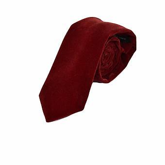 Luxe donker rood fluweel Tie