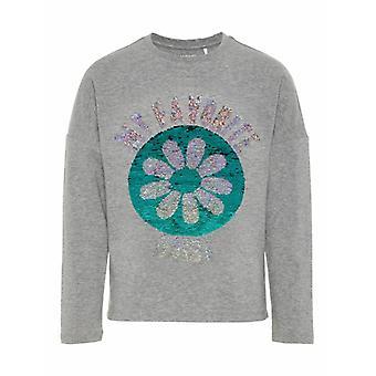 Name It Girls Tshirt Daisy Vada Grey Melange