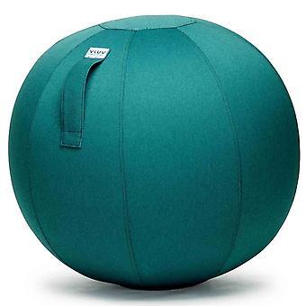 Vluv Leiv tkaniny fotel piłka średnicy 70-75 cm ciemny benzyna / niebiesko zielone