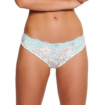LingaDore 5025B-17 Women's Eularia White Floral Print Knickers Panty Full Brief