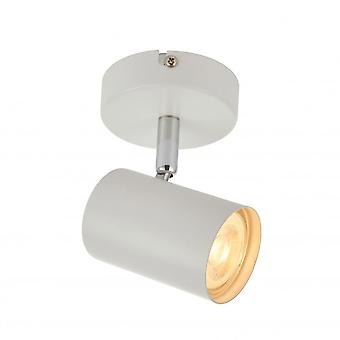 THLC Arezzo Single 1 Light Ceiling Or Wall Spotlight In Matt White Finish 73684