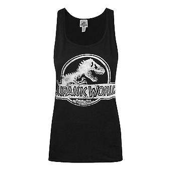 Jurassic World Distressed Logo Women-apos;s Vest