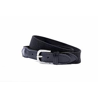 Elastic Black Children's Belt