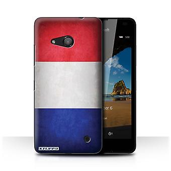 STUFF4 Case/Cover for Microsoft Lumia 550/France/French/Flags