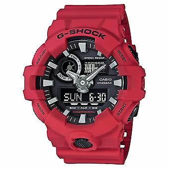 G-Shock Watches Ga-700-4aer Men's Red Rubber Alarm Chronograph Watch