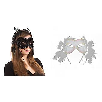 Bristol Novelty Velvet Feathers Eye Mask