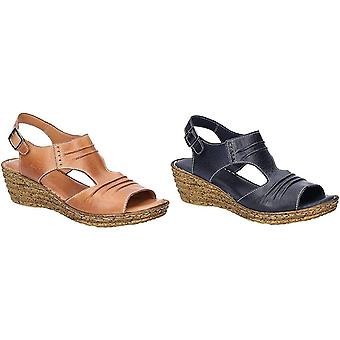 Fleet & Foster Womens/Ladies Incence Wedge Leather Sandals