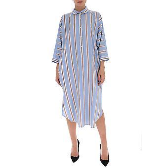 Gentry Portofino D516fag0814 Women's Light Blue Cotton Dress