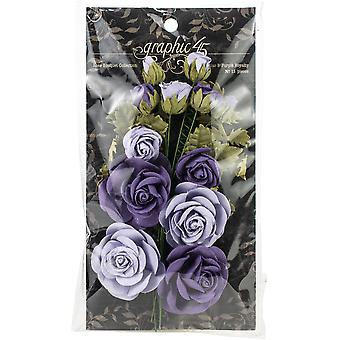 Graphic 45 Staples Rose Bouquet Collection 15/Pkg - French Lilac & Purple Royalty