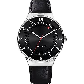 Danish Designs DZ120580-wrist watch, Man, Skin, colour: black