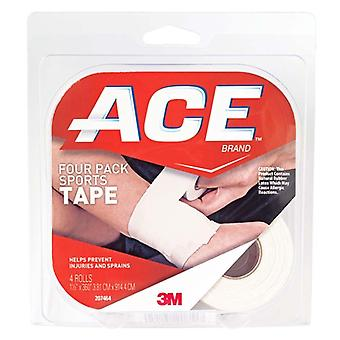 3m ace brand four pack sports tape, 1.5 inch x 10 yards, 1 ea