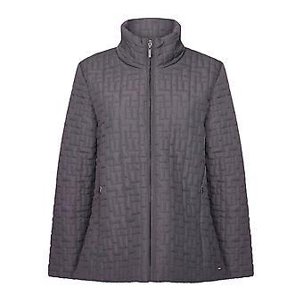 TIGI Grey Square Quilted Jacket