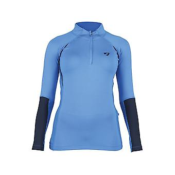 Shires Aubrion Newbury Womens Long Sleeve Base Layer - Blauw