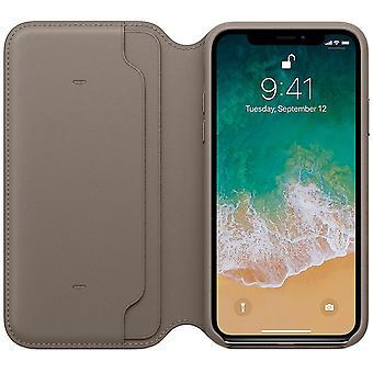 Genuine leather folio iphone 7 plus case