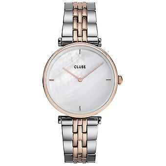 Cluse Watches Cw0101208015 Triomphe Rose Gold & Silver Stainless Steel Ladies Watch