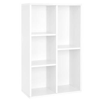 White cabinet with 5 compartments